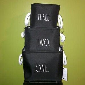New! Rae Dunn Laundry/Storage Baskets set of 3